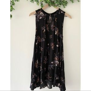 Free People Snap Out of It Floral Tank Dress Small